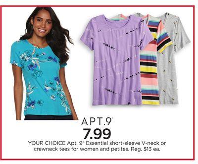 0bec8898f Apt. 9® Essential short-sleeve V-neck or crewneck tees for women and petites