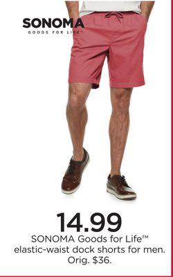 43c929cbc8 SONOMA Goods for Life™ Elastic-Waist Dock Shorts for Men