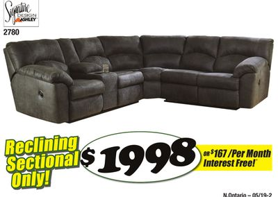 Tambo Pewter Reclining Sectional Flipp