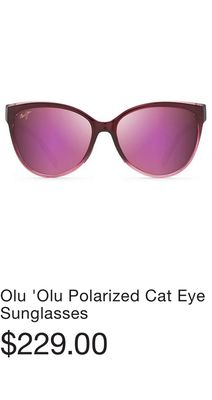 5a57ad45aa067 Olu  Olu Polarized Cat Eye Sunglasses. Ah Dang Polarized Fashion Sunglasses