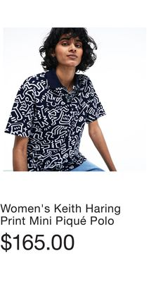 9aaf9ca1d9ff Women s Keith Haring Print Mini Piqué Polo - Flipp