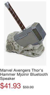 d061b20ed Marvel Avengers Thor s Hammer Mjolnir Bluetooth Speaker