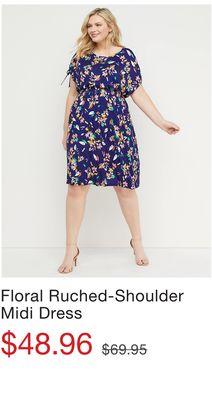 f2813112452f Sharkbite Fit & Flare Midi Dress with Cutout - Flipp