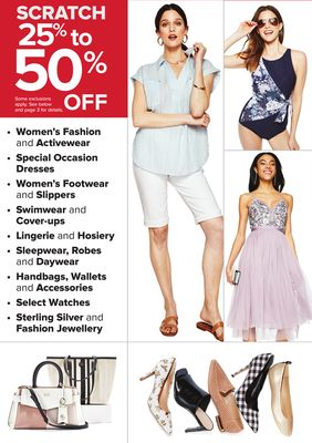 7b209a3bfffe SCRATCH 25% to OFF 50% Women's Fashion and Activewear, Special Occasion  Dresses, Women's Footwear and Slippers, Swimwear and Cover-ups, Lingerie  and Hosiery ...