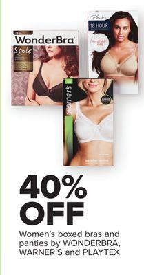50d9c306dffc 40% OFF Women's boxed bras and panties by WONDERBRA, WARNER'S and PLAYTEX