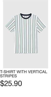 690ab20e T-SHIRT WITH VERTICAL STRIPES