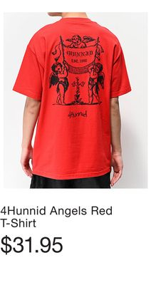 bbe6517b2 4Hunnid Angels Red T-Shirt. 4Hunnid EST 1990 Black ...