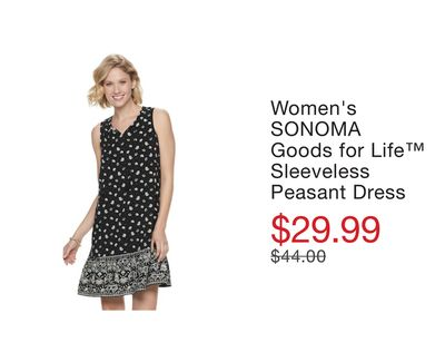 482aaba28a88 Women's SONOMA Goods for Life™ Sleeveless Peasant Dress
