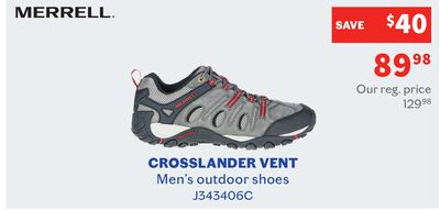 finest selection 27965 0489a MERRELL Crosslander Vent - Men s Outdoor Shoes