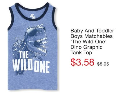 ed9941edde49b Baby And Toddler Boys Matchables 'The Wild One' Dino Graphic Tank Top