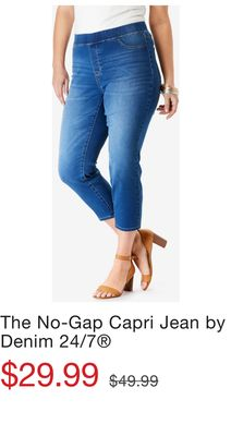 d8ef82b4258 The No-Gap Capri Jean by Denim 24/7®