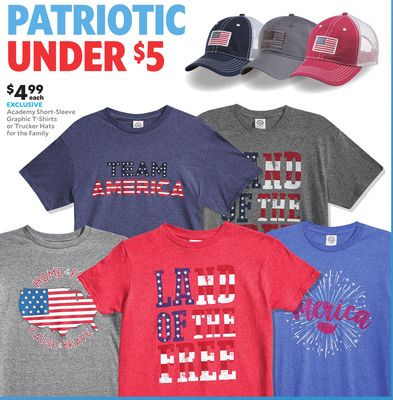 68fa6c545ce Academy Short‑Sleeve Graphic T‑Shirts or Trucker Hats for the Family