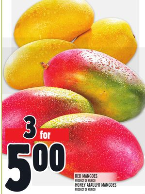 RED MANGOES PRODUCT OF MEXICO HONEY ATAULFO MANGOES PRODUCT OF MEXICO
