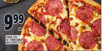 """FRESH 2 GO 16"""" STONE BAKED HOT & SPICY PIZZA"""