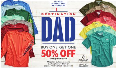 8dcd3b02229af Magellan Outdoors Men's Casting Crew T-Shirt or Laguna Madre Short-Sleeve  Shirt