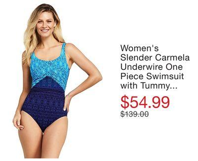 2d033dafedc Women's Slender Carmela Underwire One Piece Swimsuit with Tummy Control  Print