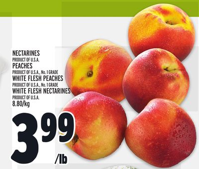 NECTARINES, PEACHES, WHITE FLESH PEACHES OR WHITE FLESH NECTARINES