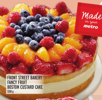FRONT STREET BAKERY FANCY FRUIT BOSTON CUSTARD CAKE