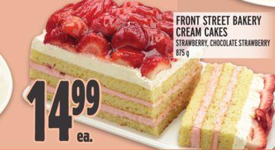 FRONT STREET BAKERY CREAM CAKES