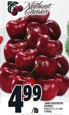 JUMBO WASHINGTON CHERRIES