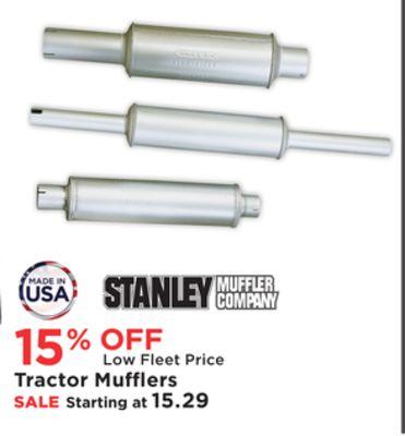 stanley tractor mufflers
