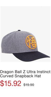 sports shoes b5f6e 3aabc Dragon Ball Z Ultra Instinct Curved Snapback Hat