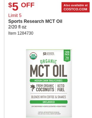 Get Sports Research MCT Oil for $ in Horn Lake   Flipp