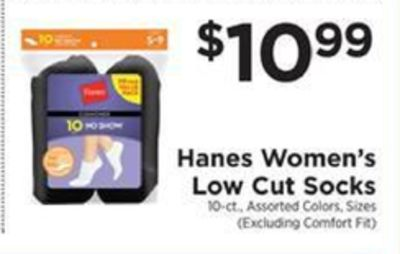 Get Hanes Women's Low Cut Socks for $10 99 in Lewes | Flipp