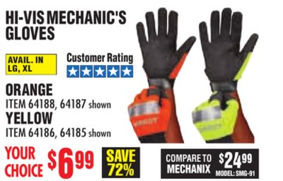 Get HI-VIS MECHANIC'S GLOVES for $6 99 in Nettleton | Flipp