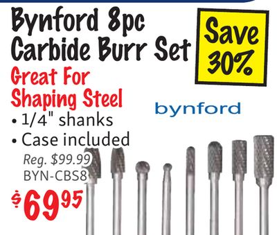 Get Choice! Bynford 8pc Save Carbide Burr Set 30% Great For