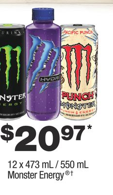 Find the Best Deals for monster-energy-drink in Victoria, BC | Flipp