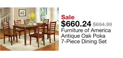 911185e87fbb61 Furniture of America Antique Oak Poka 7-Piece Dining Set