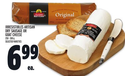 IRRESISTIBLES ARTISAN DRY SAUSAGE OR GOAT CHEESE