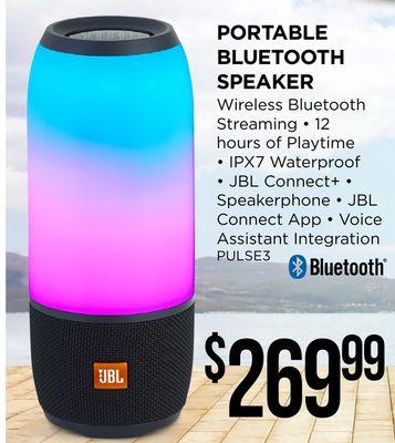 Get JBL PORTABLE BLUETOOTH SPEAKER for $269 99 in Penticton