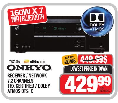 Get Onkyo RECEIVER / NETWORK 7 2 CHANNELS THX CERTIFIED / DOLBY