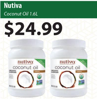 Get Nutiva Coconut Oil for $24 99 in Bradford | Flipp