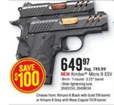 Get Kimber Micro ESv with $649 97 in Houston   Flipp