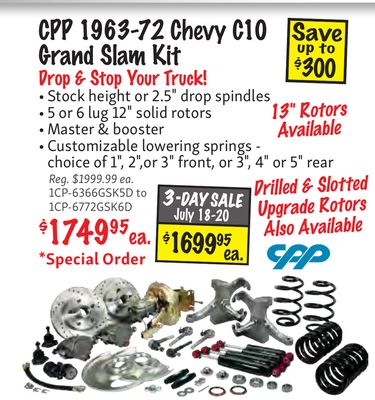Get CPP 1963-72 Chevy C10 Save Grand Slam Kit up to $300