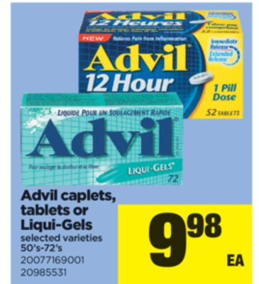 Advil Caplets Tablets Or Liquigels 50s72s St Thomas Ontario