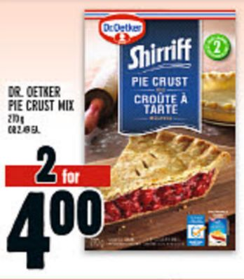DR. OETKER PIE CRUST MIX