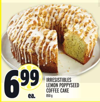 IRRESISTIBLES LEMON POPPYSEED COFFEE CAKE