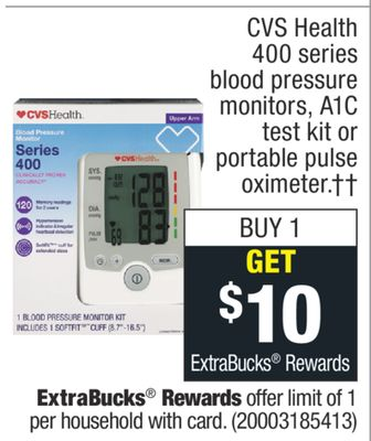 Get 400 series blood pressure monitors, A1C test kit or portable