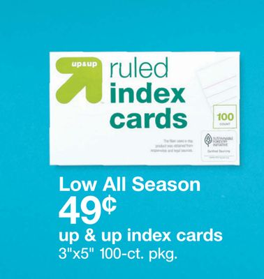 Get up & up™ Index Cards with $0 49 in Houston | Flipp