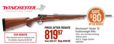 Get Winchester® Model 70 Featherweight Rifle with $819 97 in Houston
