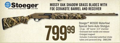 Get Stoeger® M3500 Waterfowl Special Semi-Auto Shotgun with $799 99