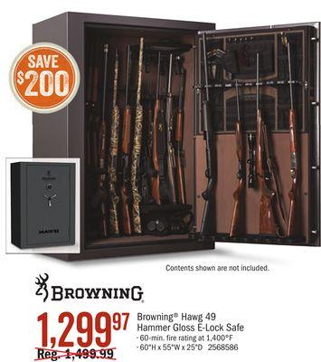 Browning Hawg 49 Hammer Gloss Elock Safe Houston Texas