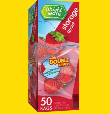 4 x 2 x 8-1000 Count Get Reddi Poly Food Storage Plastic Bags Pint Size