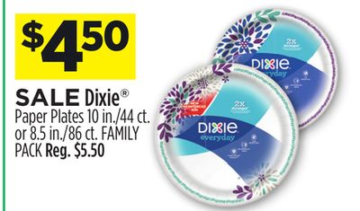 Get Dixie Paper Plates 10 in /44 ct  Paper Plates 10 in /44