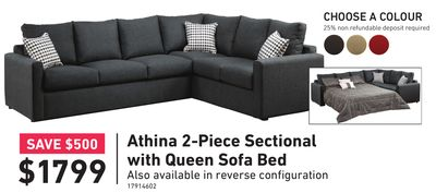 Swell Athina 2Piece Sectional With Leftfacing Queen Sofa Bed Ibusinesslaw Wood Chair Design Ideas Ibusinesslaworg