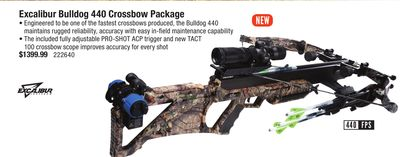 Excalibur Bulldog 440 Crossbow Package Caraquet New Brunswick